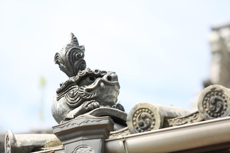 法心寺の瓦(巴蓋?)