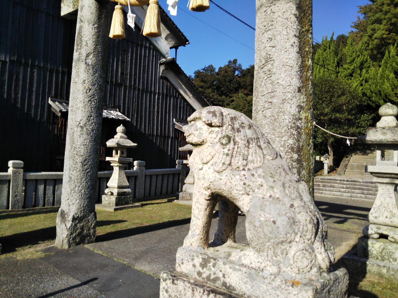 志駄岸神社の狛犬