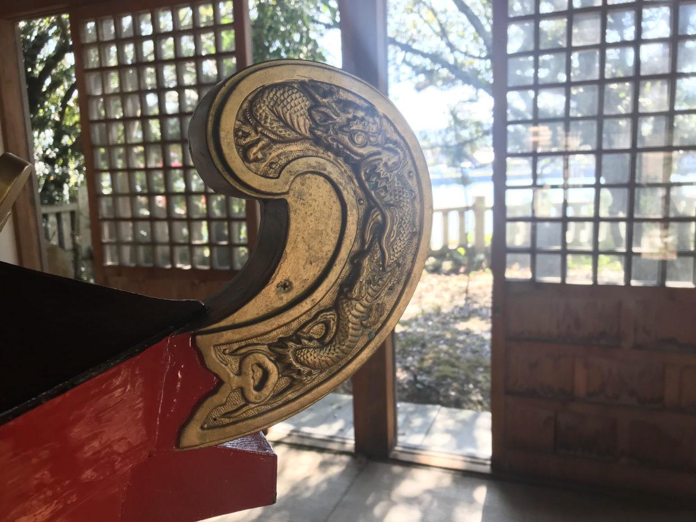 土居神社お神輿の龍