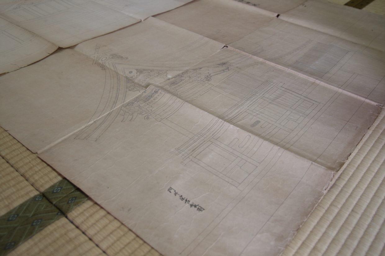 筏八幡宮の設計図