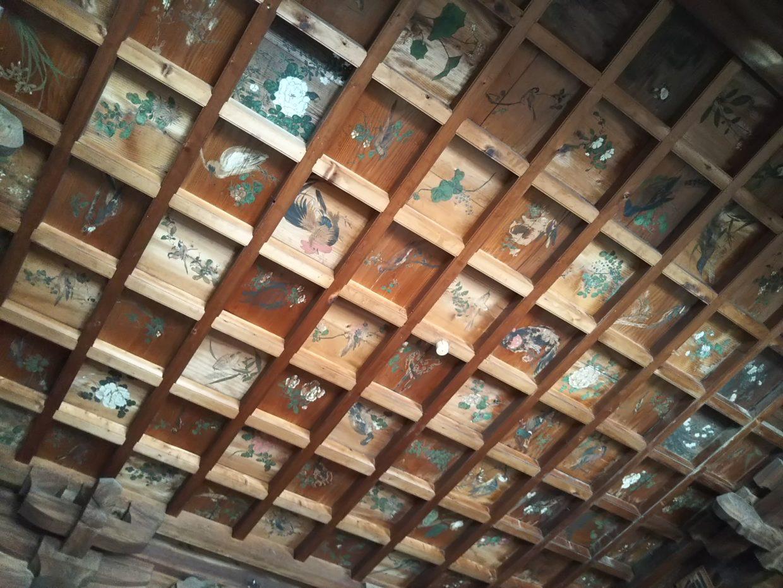 眷龍寺の天井